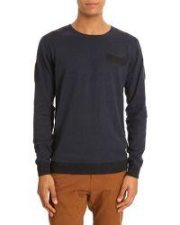Diesel Kane Round Collar Navy Sweater - Lyst