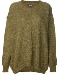 Isabel Marant Gold Knit Sweater - Lyst