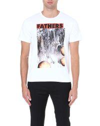 Raf Simons Father Flowerprint Tshirt White - Lyst