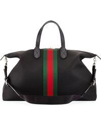Gucci Techno Canvas Duffle Bag - Lyst