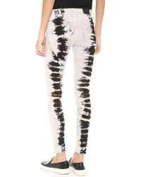 Wildfox - Marianne Mid Rise Skinny Jeans - Lyst