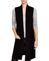 C By Bloomingdale's Sleeveless Cashmere Duster - Black