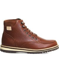 Lacoste Montbard Leather Boots - Brown