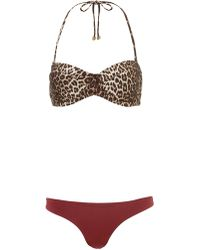 Zimmermann Mismatched Bandeau Instinct Bikini - Lyst