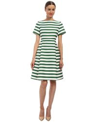 Kate Spade Yarn Dyed Stripe Fit And Flare Dress - Lyst