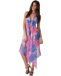 Yuka Beach - Chest Lace Long Cover Up: Blue/pink - Lyst