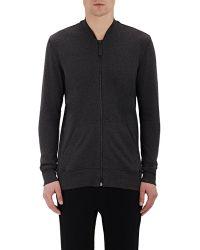 Hanro Men's Zip-front Sweater - Gray