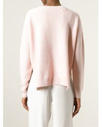 Vanessa Bruno Athé - V-Neck Silk and Cashmere Jumper - Lyst