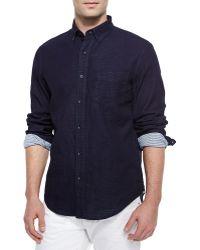Rag & Bone Yokohama Contrast-Cuff Sport Shirt - Lyst
