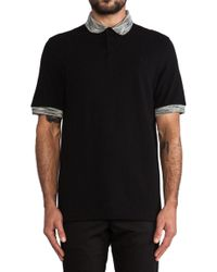 Fred Perry Laurel Wreath Misregistered Tipping Shirt - Lyst