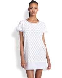Jean Paul Gaultier Dotted Tulle Tunic - Lyst