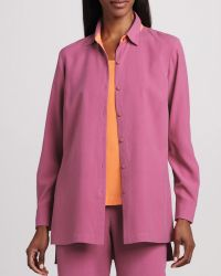 Go Silk Easy-Fit Colorblock Silk Shirt - Lyst