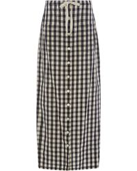 Solid & Striped - Long Gingham Skirt - Lyst