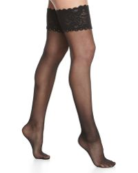 Wolford Silk Crystal Stay-Up Thigh-Highs - Lyst