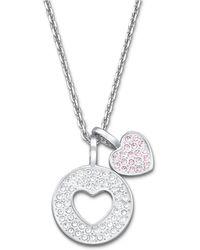 Swarovski Amorous Crystallized Pendant Necklace - Lyst