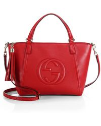 Gucci Soho Leather Top Handle Bag - Lyst