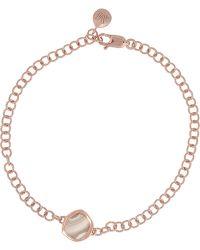 Monica Vinader - Atlantis Mini Rose Gold-plated Agate Bracelet - Lyst