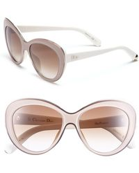 Dior Women'S 'Promesse 1' 55M Cat Eye Sunglasses - Transparent Pink/ Ivory - Lyst