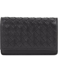 Bottega Veneta Intrecciato Flap Card Case - Lyst