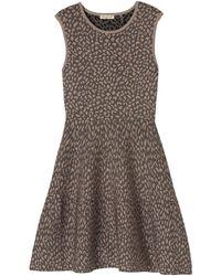 Rebecca Taylor Sleeveless Stretch Animal Dress - Lyst