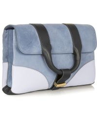 Jason Wu Hanne Suede And Leather Clutch - Lyst