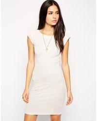 AX Paris Textured Bodycon Dress - Lyst