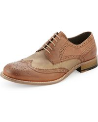 Kenneth Cole State Of Mind Lace-Up Wing-Tip - Lyst