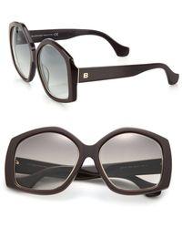 Balenciaga | 55mm Oversized Sunglasses | Lyst