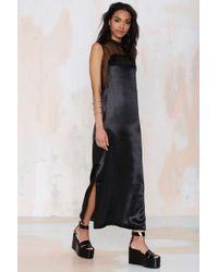 Nasty Gal Karla Spetic Dream Master Satin Dress black - Lyst