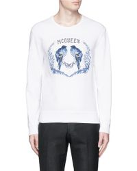Alexander McQueen   Bird Embroidery Sweatshirt   Lyst