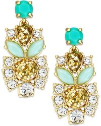 Kate Spade New York Gold-tone Multi-stone Statement Drop Earrings - Lyst