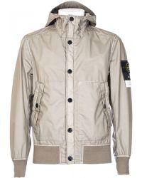 Stone Island Heather Grey Mussola Gommata Jacket beige - Lyst