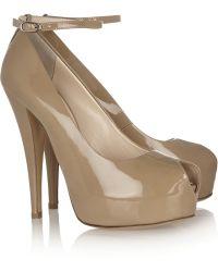 Giuseppe Zanotti Monro Patent-leather Peep-toe Pumps - Lyst