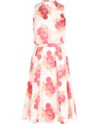 Coast Frankie Jacquard Dress floral - Lyst