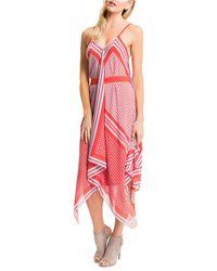 Cynthia Steffe Red Scarf Maxi Dress - Lyst