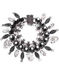 Givenchy - Crystal, Onyx And Wood Bracelet - Lyst