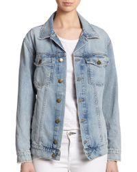 Current/Elliott Oversized Denim Jacket - Lyst