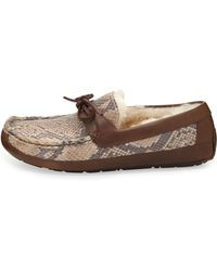 Ugg Byron Snake-print Leather Slipper - Lyst
