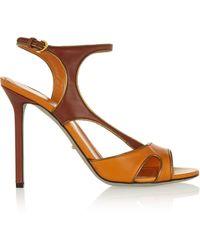 Sergio Rossi Gleam Leather Sandals - Lyst