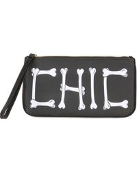 Moschino Cheap & Chic Chic Printed Techno Satin Pouch - Lyst