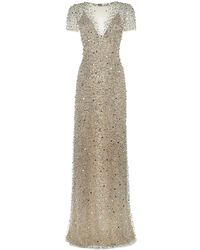 Jenny Packham Scattered Bead Gown - Lyst