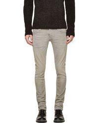 Nudie Jeans Grey Organic Tight Long John Jeans - Lyst
