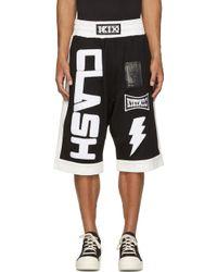 KTZ - Black Clash Appliqu Shorts - Lyst