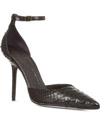 Burberry Seaworth Scaled Leather Sandals Black - Lyst