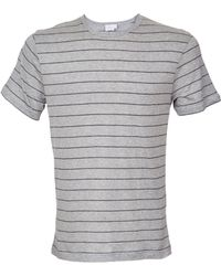 Sunspel Horizontal Striped Crewneck T-Shirt - Lyst
