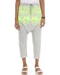 Surf Bazaar - Embroidered Harem Pants - Sand/flora - Lyst