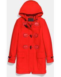 COACH Duffle Coat - Red