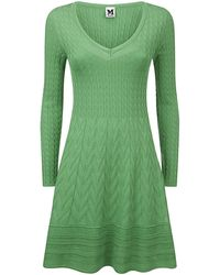 M Missoni Solid Weave Fit and Flare Dress - Lyst