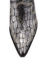 Donald J Pliner Soir Crocprint Western Mule - Lyst