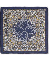 Alex Mill Paisley Wool Pocket Square - Lyst